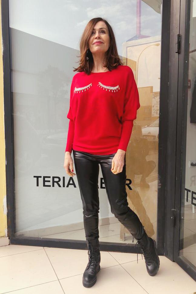Jersey Mírame Rojo Teria Yabar