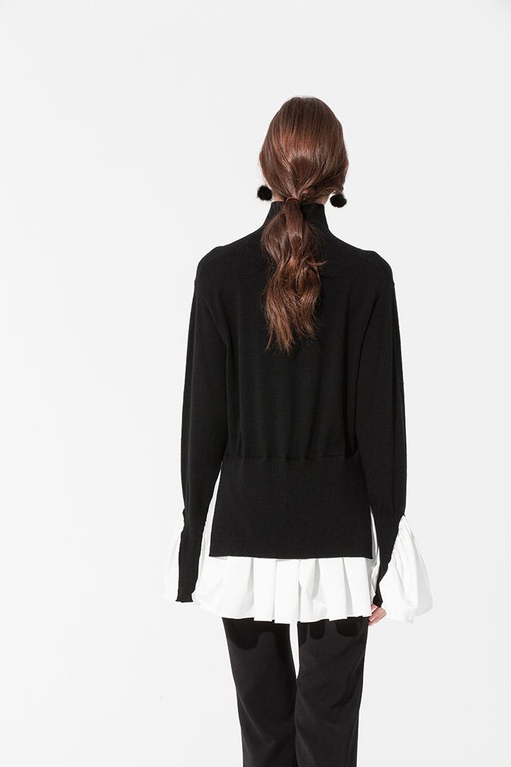Jersey negro cuello chimenea