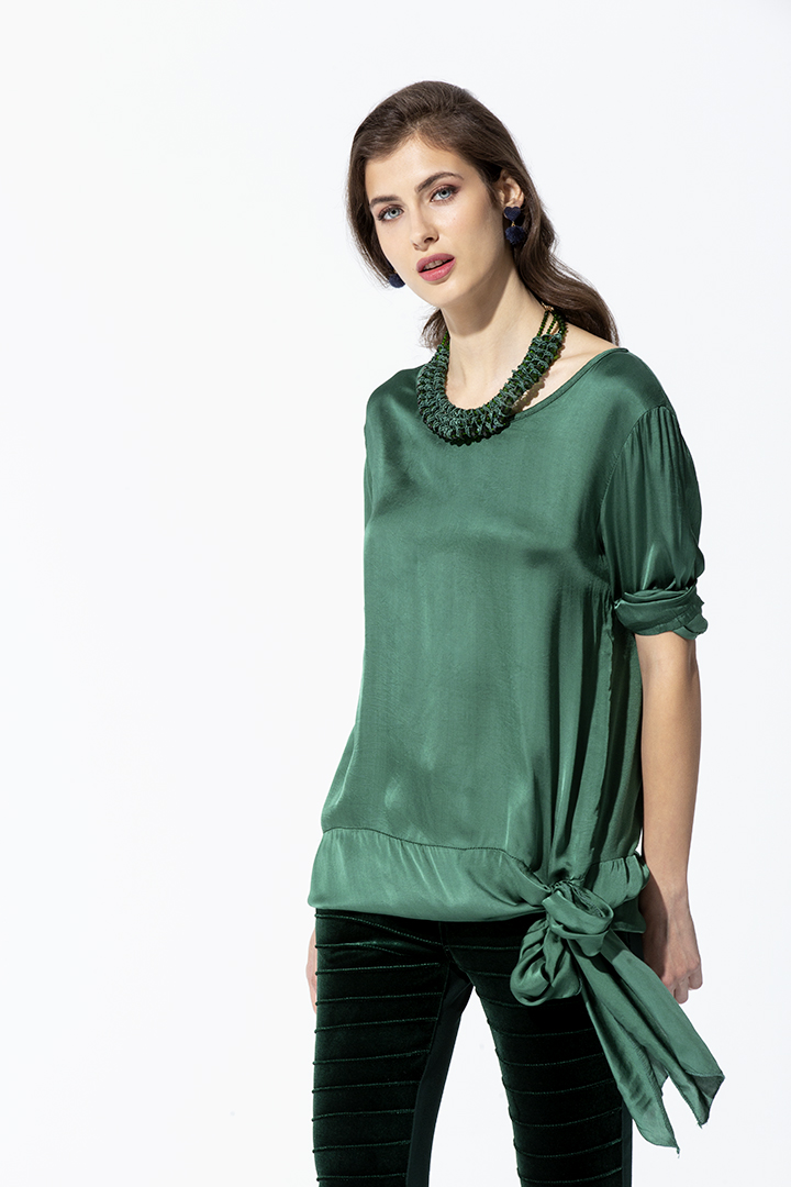 Camisa Verde con Lazada Basic Teria Yabar