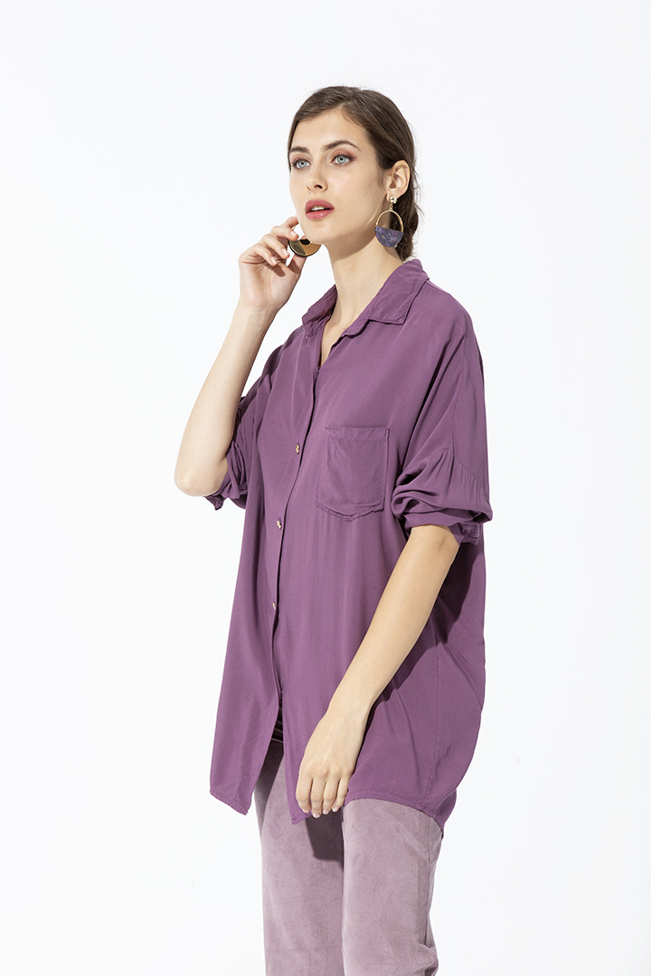 Camisa Bolsillo Rosa Antic BASIC Camisa Bolsillo Rosa Antic Basic Teria Yabar