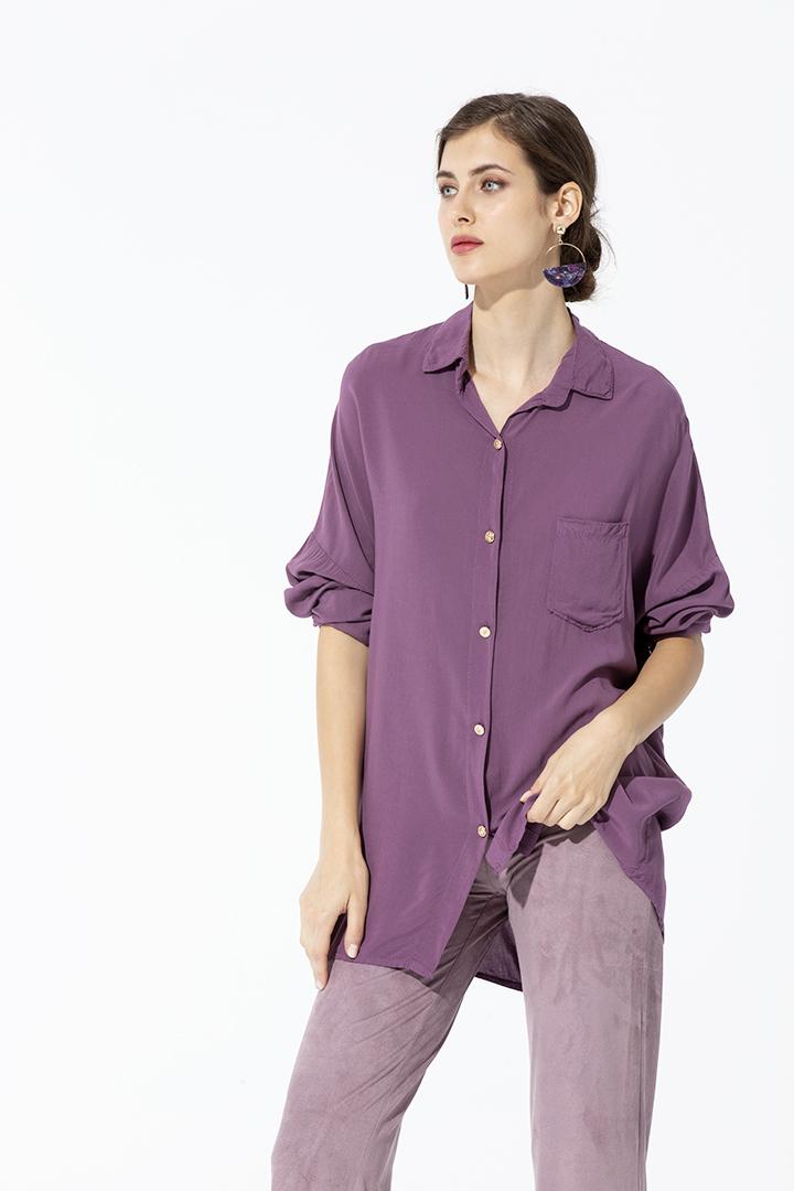 Camisa Bolsillo Rosa Antic Basic Teria Yabar