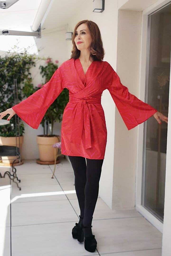 Mini Kimono Shibuya Rojo Teria Yabar