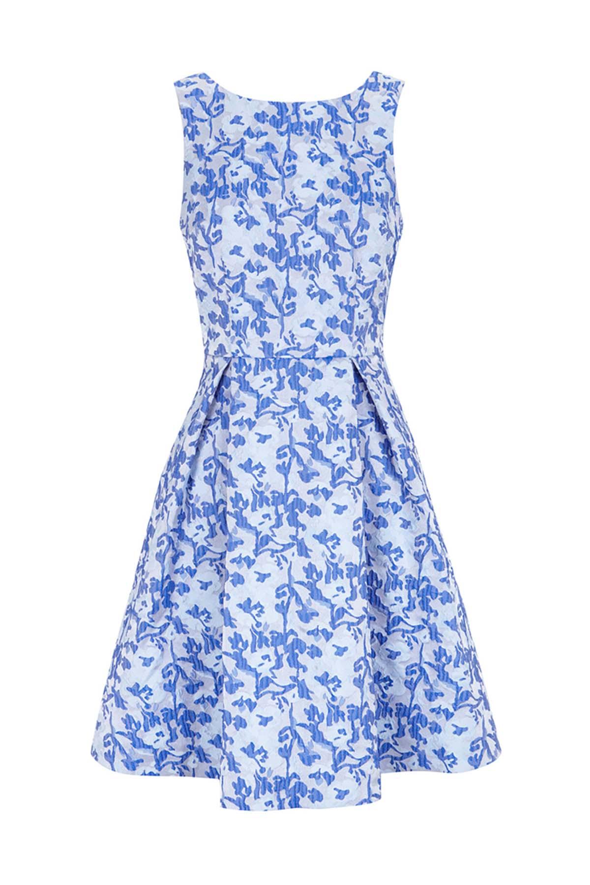 Teria Yabar - Vestido Orsay de estampado floral