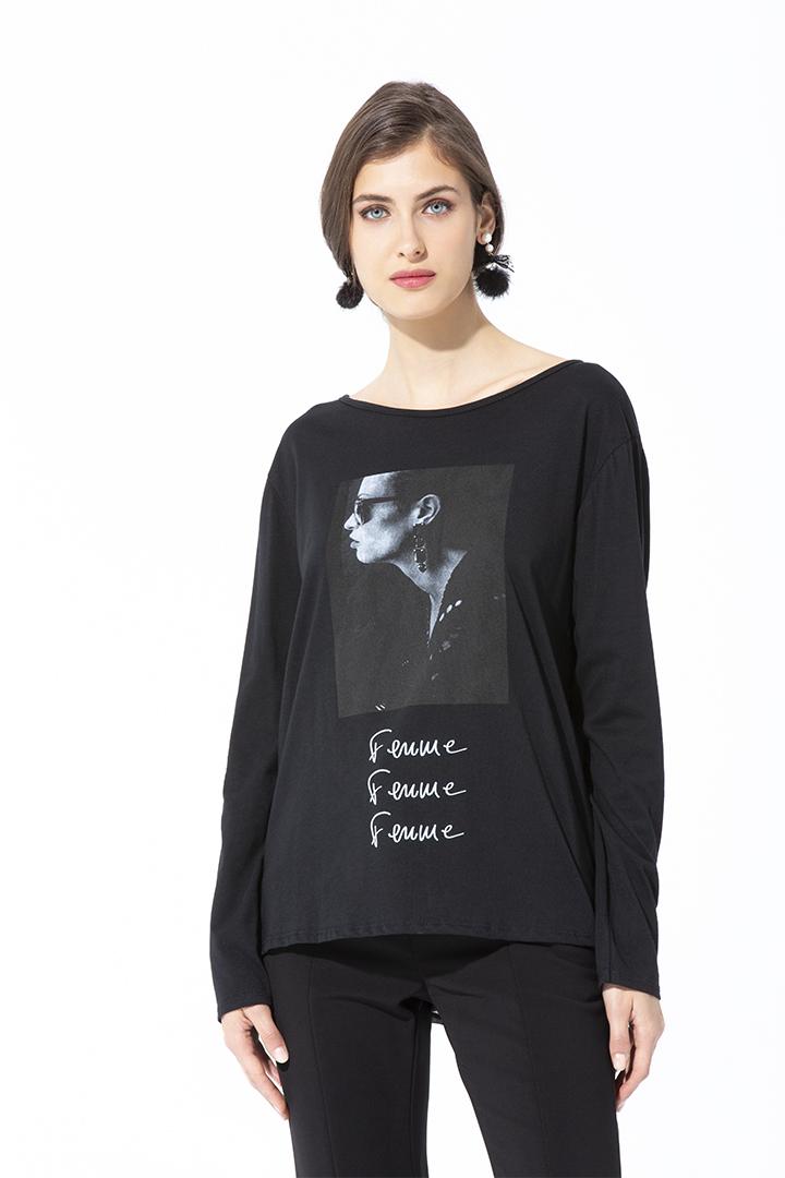 Camiseta Elsa Negra Basic teria yabar