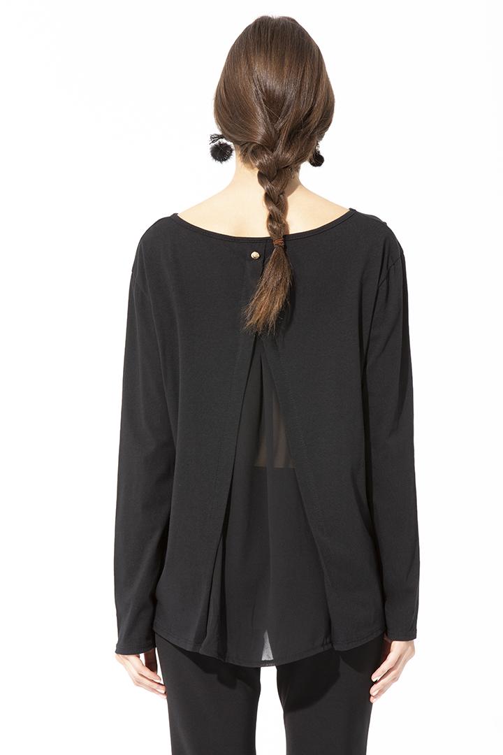 Camiseta margarita negra Camiseta Margarita Navy Basic Teria Yabar