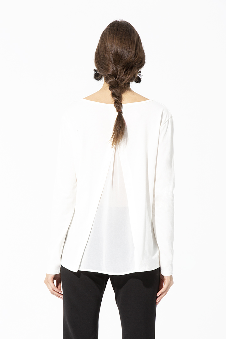 Camiseta Margarita Blanca Basic Teria Yabar