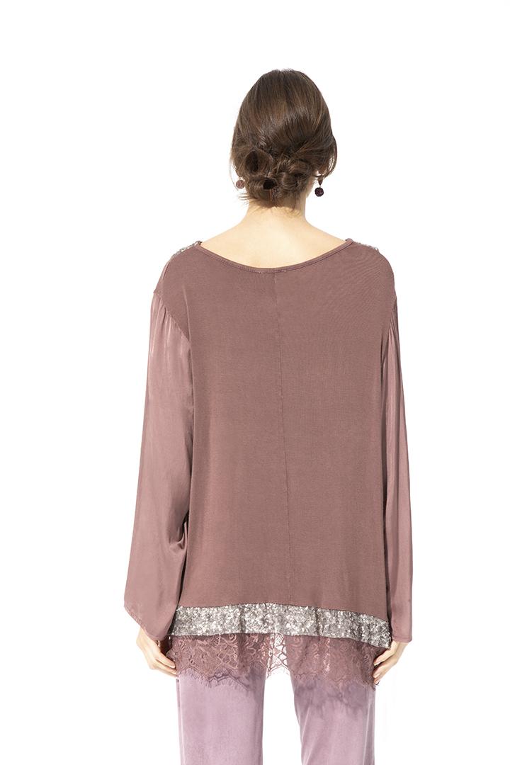 Camisa con Lentejuelas Camisa con Lentejuelas Basic Teria Yabar