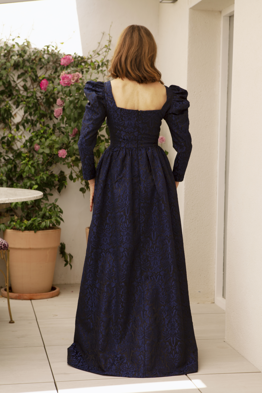 Vestido Catalina Marino Teria Yabar_1