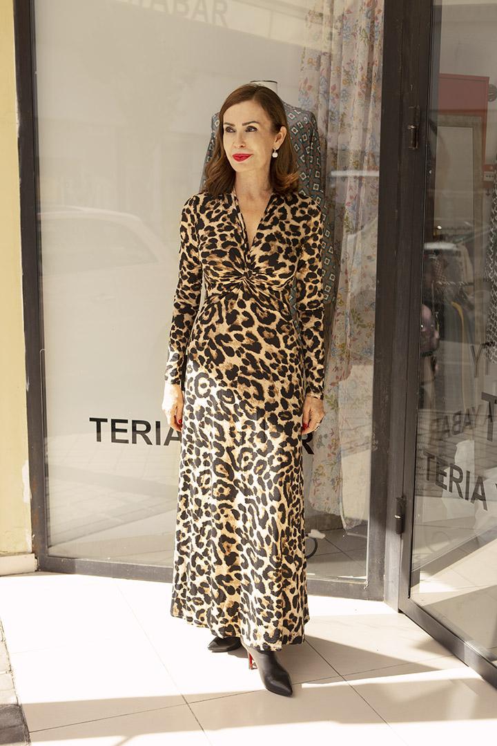 Vestido Ajustado Animal Print Teria Yabar