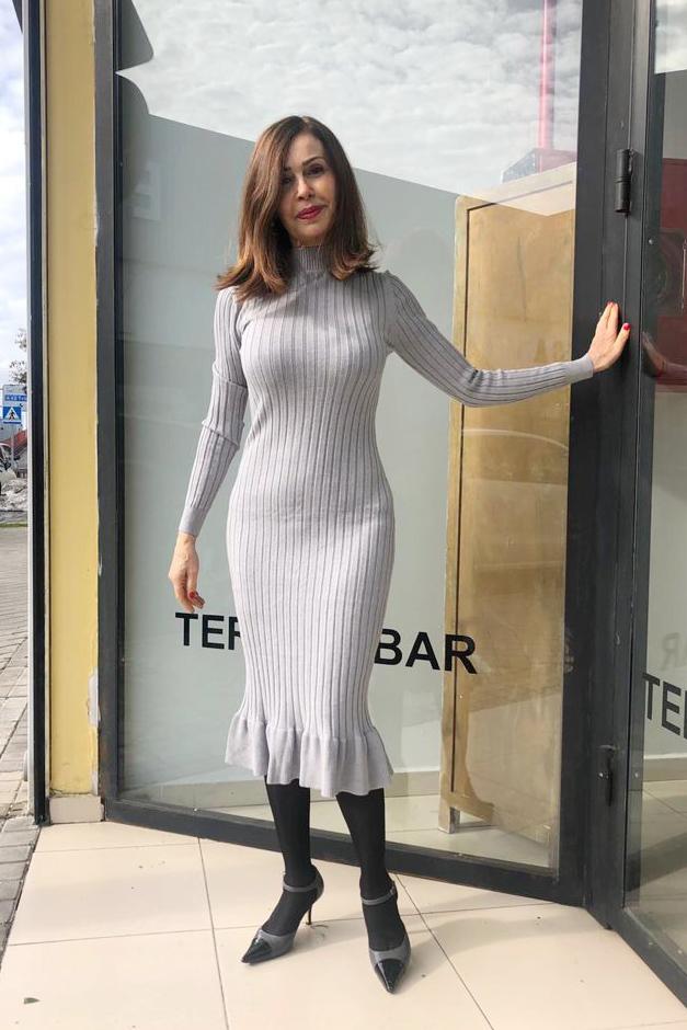 Vestido Cádiz Gris Teria Yabar