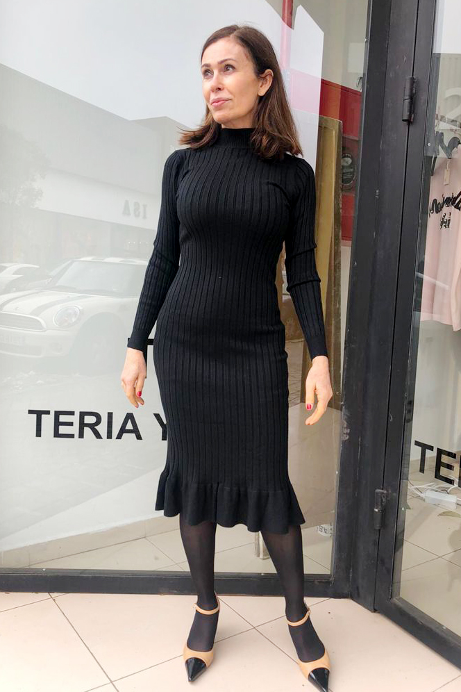 Vestido Cádiz Negro Teria Yabar