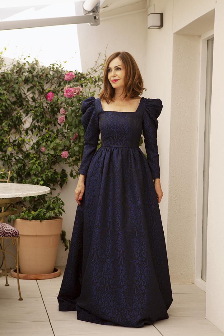 Vestido Catalina Marino Teria Yabar