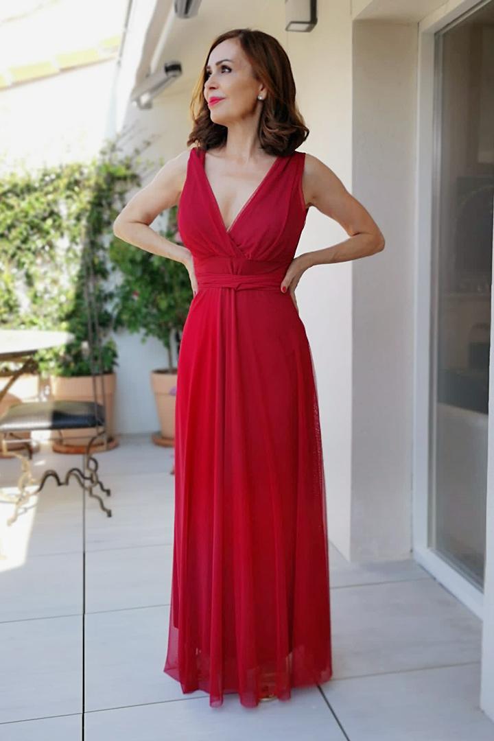 Vestido Gilian Rojo Teria Yabar
