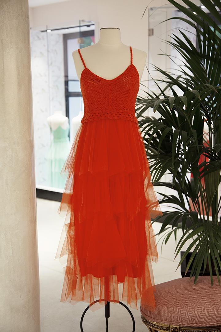 Vestido Girona Naranja TERIA YABAR