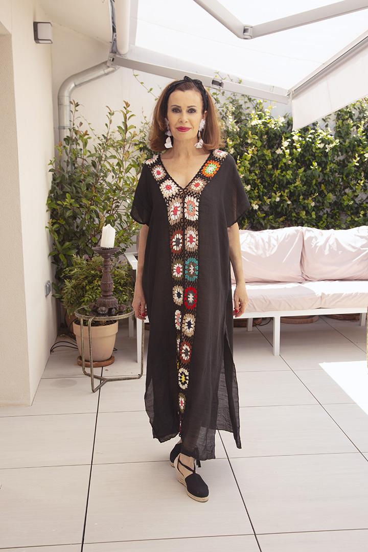 Vestido Hippie Negro Teria Yabar