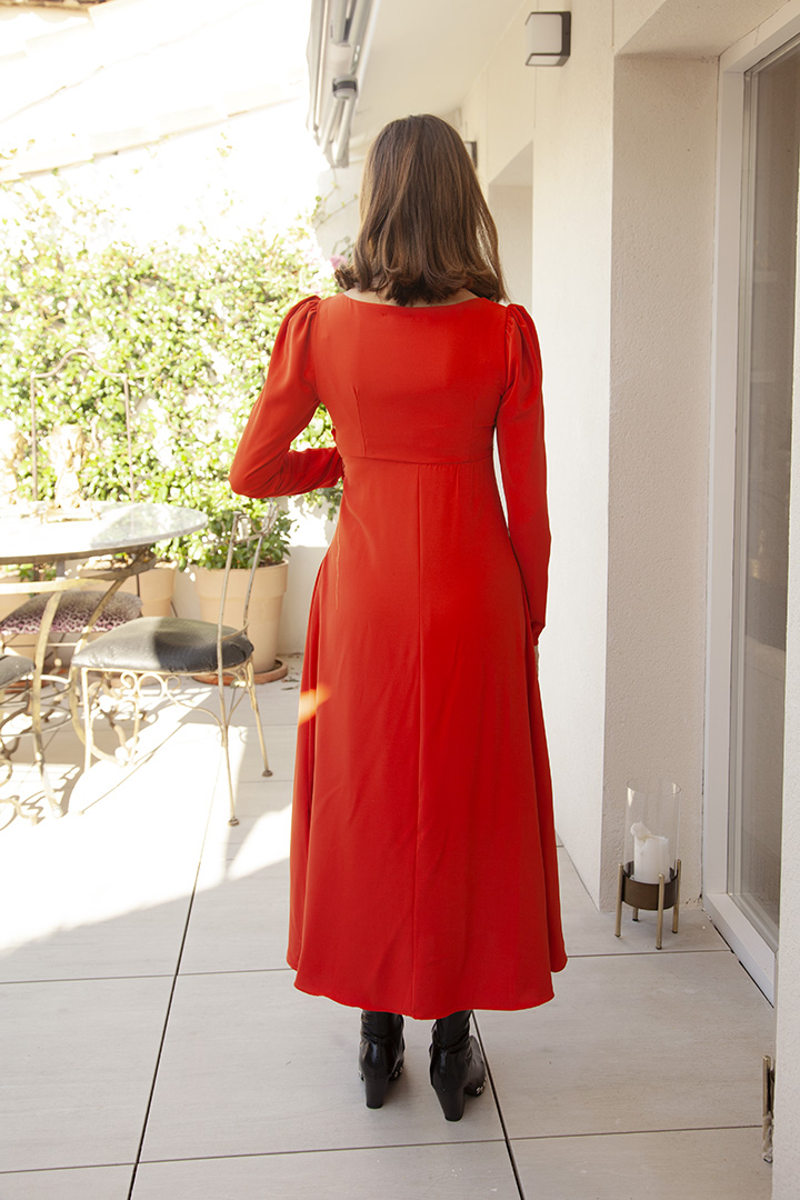 Vestido Isabel Naranja Teria Yabar_1