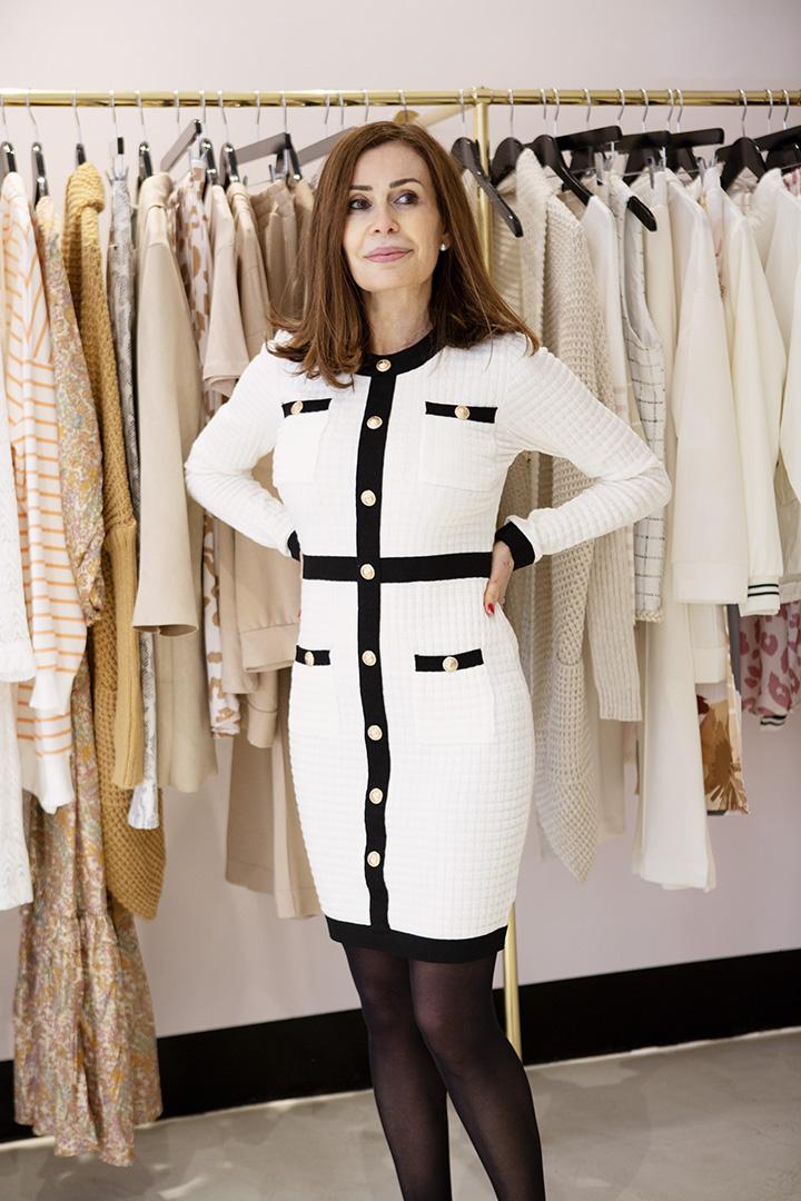 Vestido París Blanco y Negro Teria Yabar