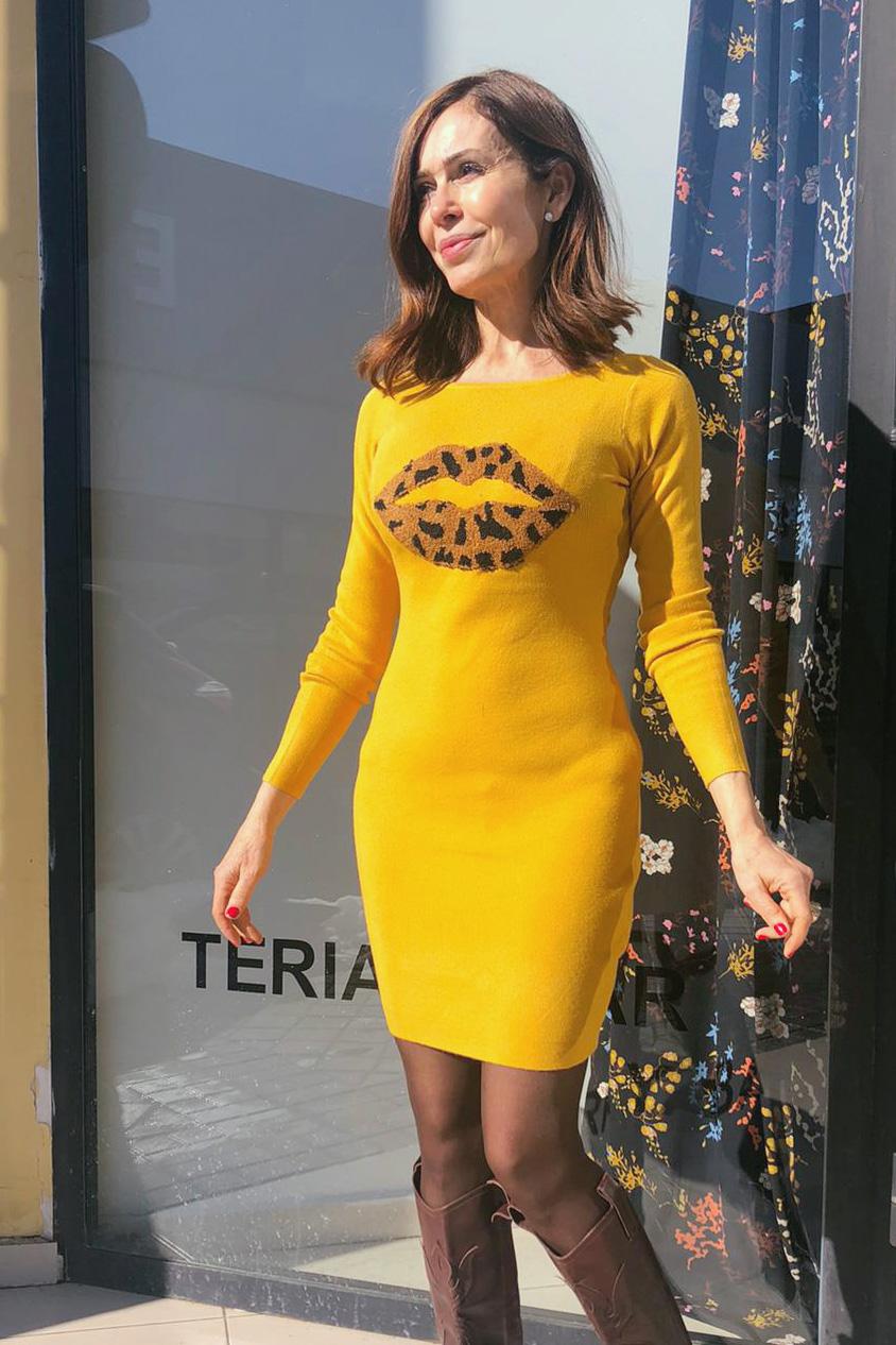 Vestido Punto LIPS Mostaza Teria Yabar