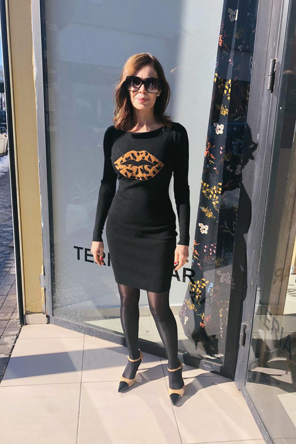 Vestido Punto LIPS Teria Yabar