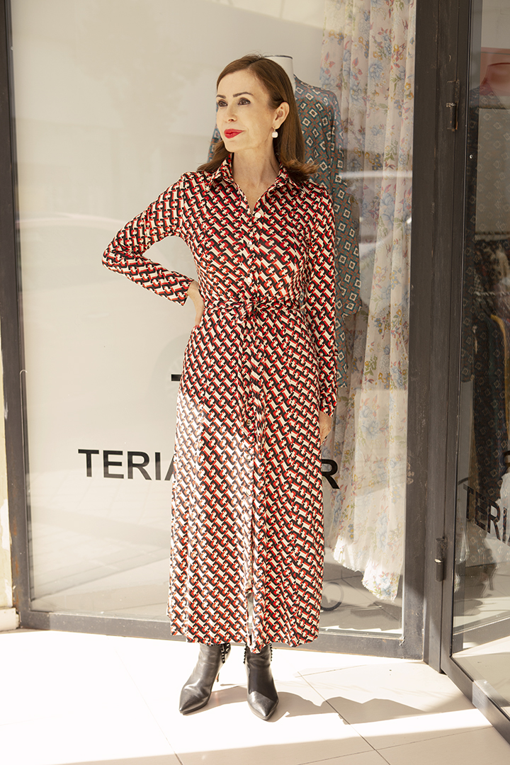 Vestido Regina Geométrico Teria Yabar