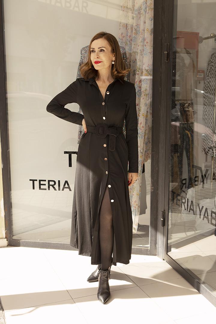 Vestido Regina Negro Teria Yabar