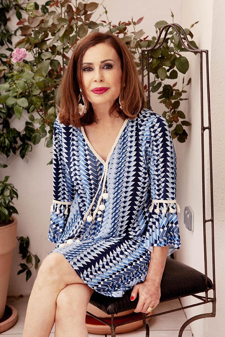 Vestido Sidney Azul Teria Yabar