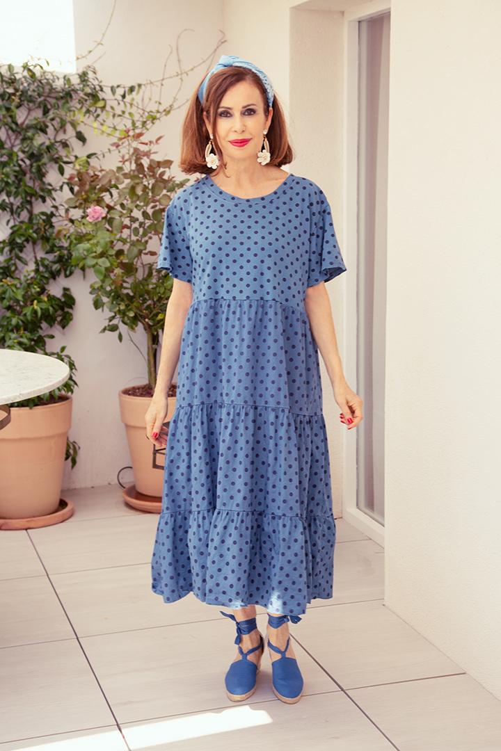 Vestido Triana Azul Teria Yabar