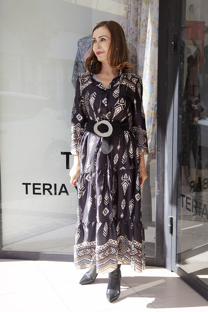 Vestido Zamora Negro Teria Yabar